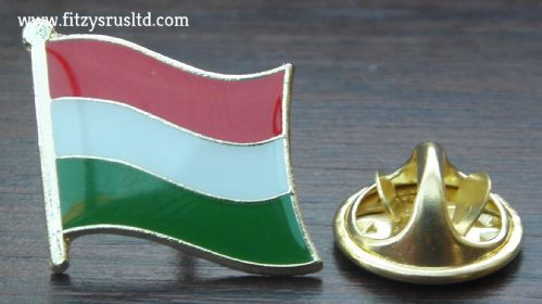 Hungary Hungarian Country Flag Lapel Hat Cap Tie Pin Badge Magyarorszg